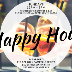 Happy Hour Sundays - Osborne Rooftop - South Yarra