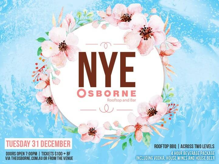The Osborne Rooftop South Yarra New Years Eve 2019 NYE