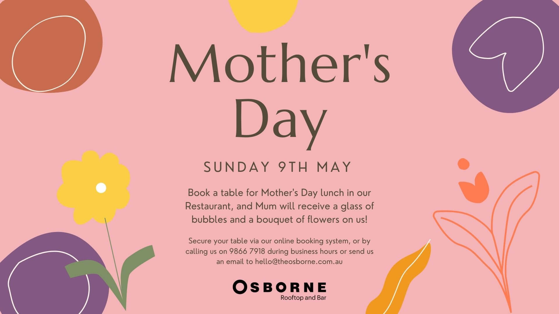 Mothers Day 2021 Lunch Osborne Rooftop South Yarra