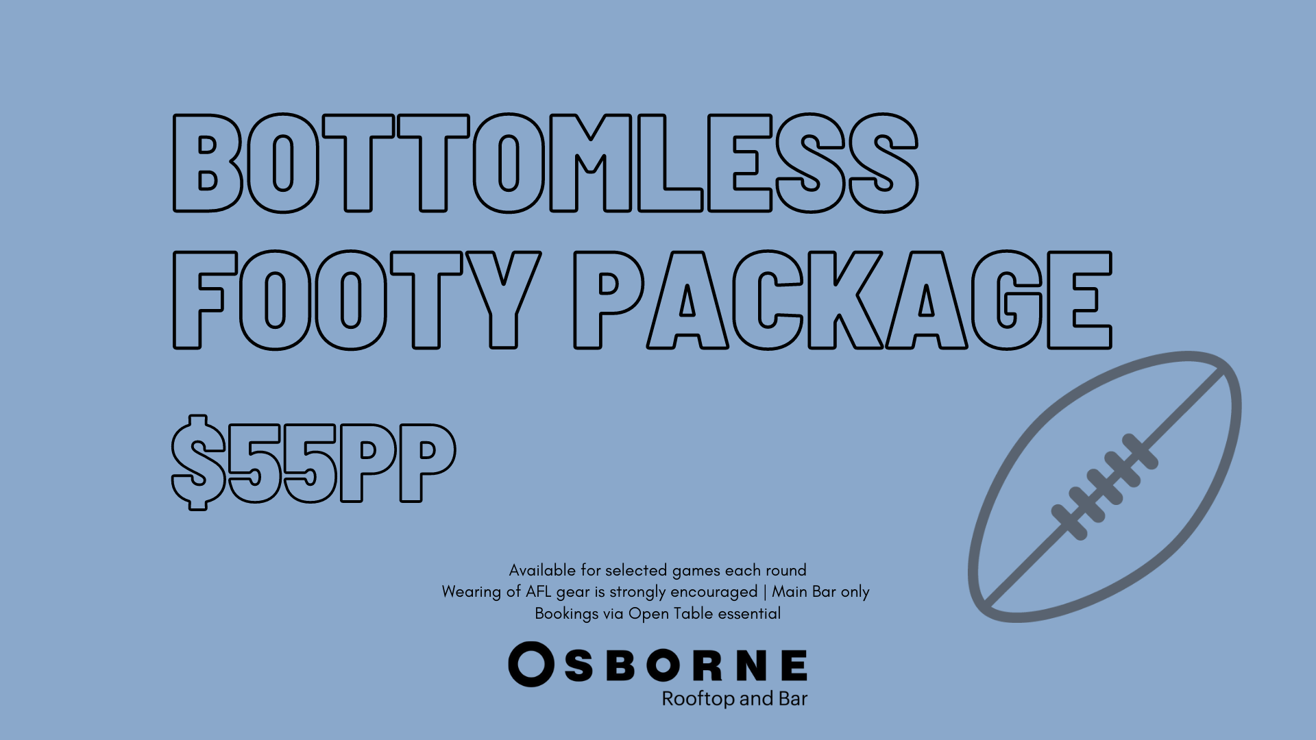 AFL Bottomless Package 2021