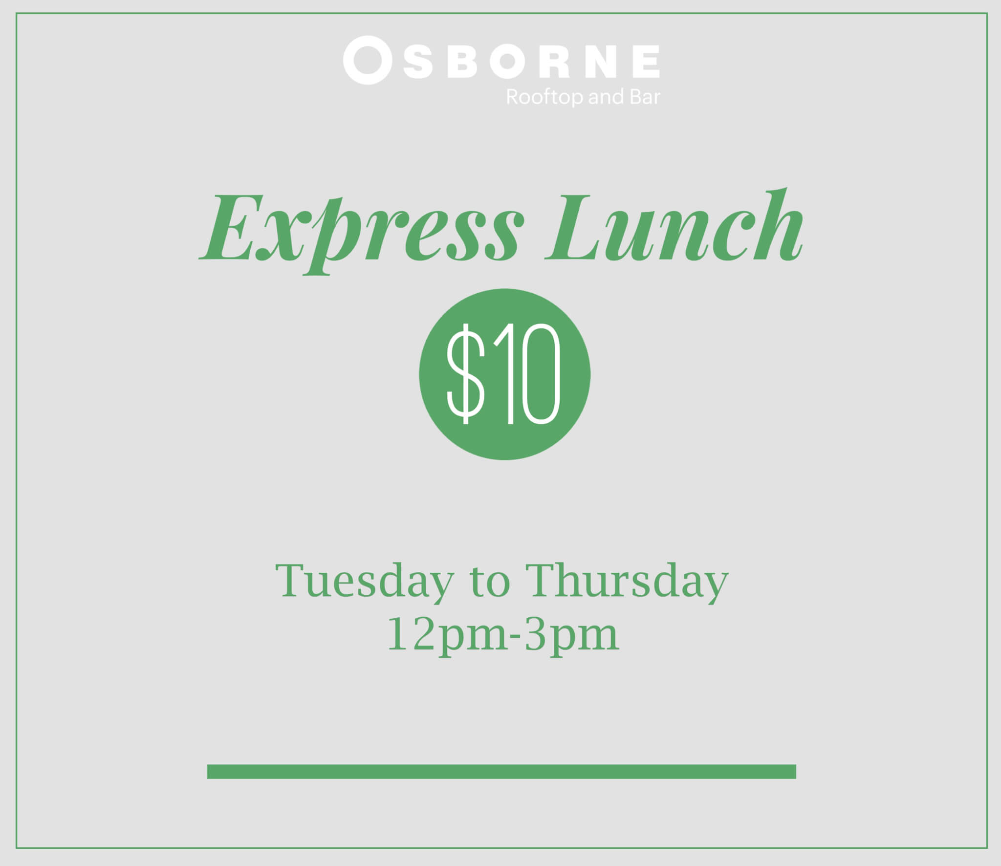 The Osborne Lunch Special Express - South Yarra