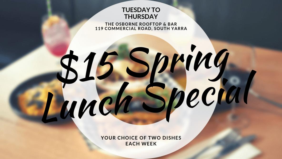 $15 Spring Lunch Special - Osborne Rooftop & Bar