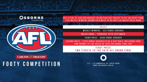 Frothy Footy Weekly AFL Competition - The Osborne Rooftop South Yarra